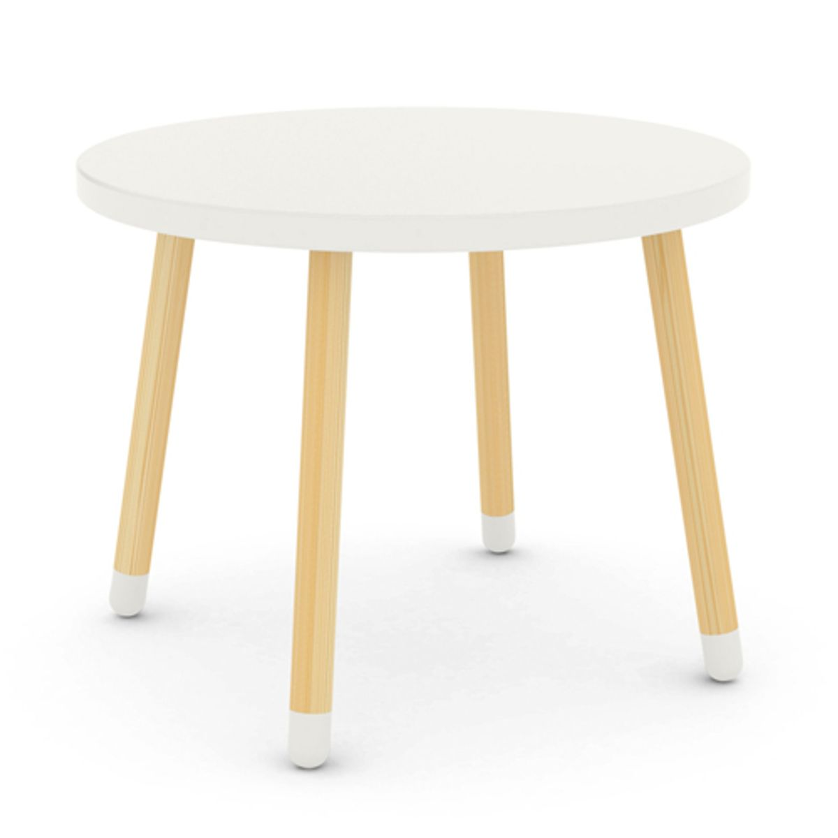 Table Ronde Bois Blanc Table Ronde En Bois Pour Enfant Flexa Play Blanc Decoclico