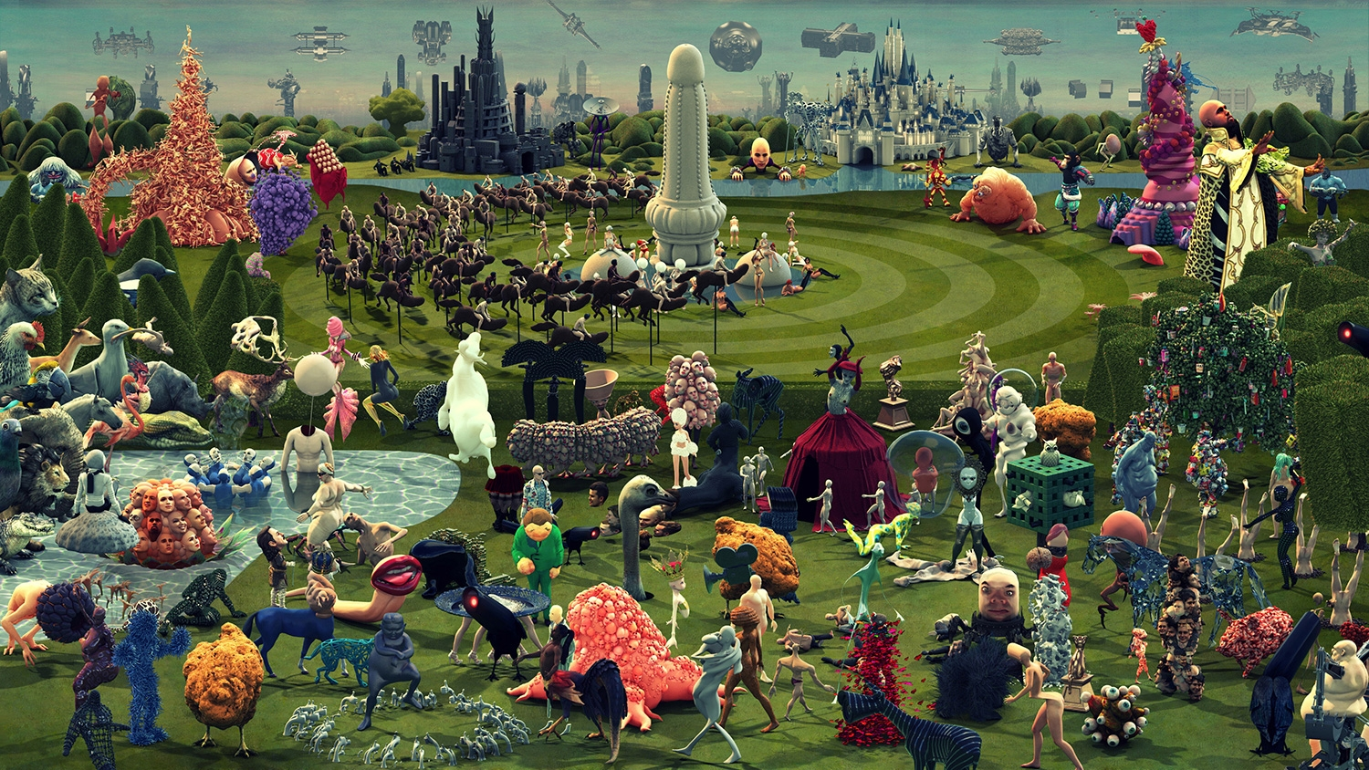 Hieronymus Bosch Giardino Delle Delizie This Animated Version Of Hieronymus Bosch 39s Painting