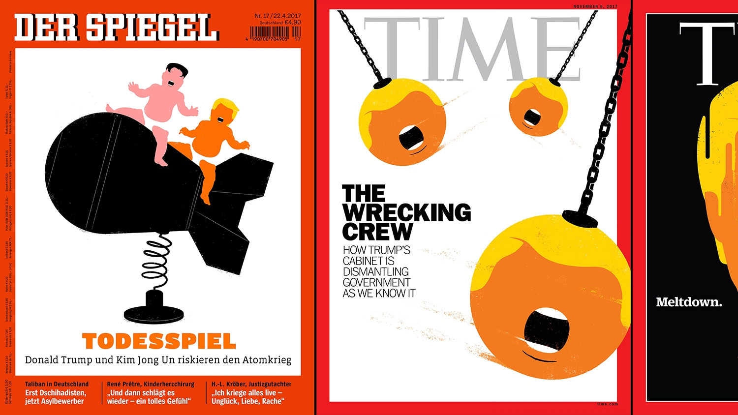 Design Spiegel The Illustrator Of Famous Donald Trump Der Spiegel And Time Cover