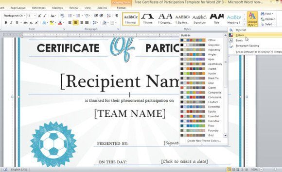 Microsoft Word Basketball Certificate Template  Registered