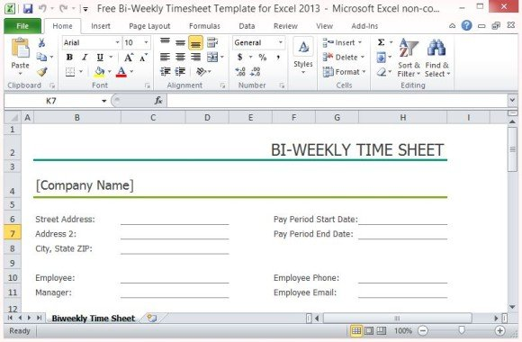 bi weekly timesheet template - bi weekly timecard with lunch
