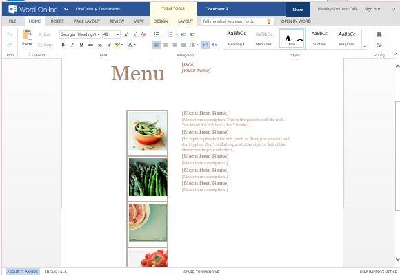powerpoint restaurant menu template xv-gimnazija