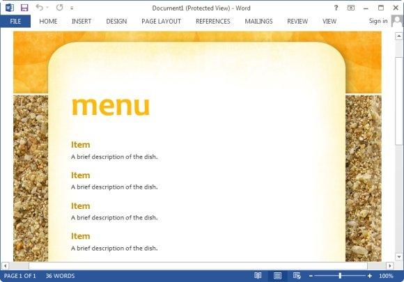 powerpoint menu templates free