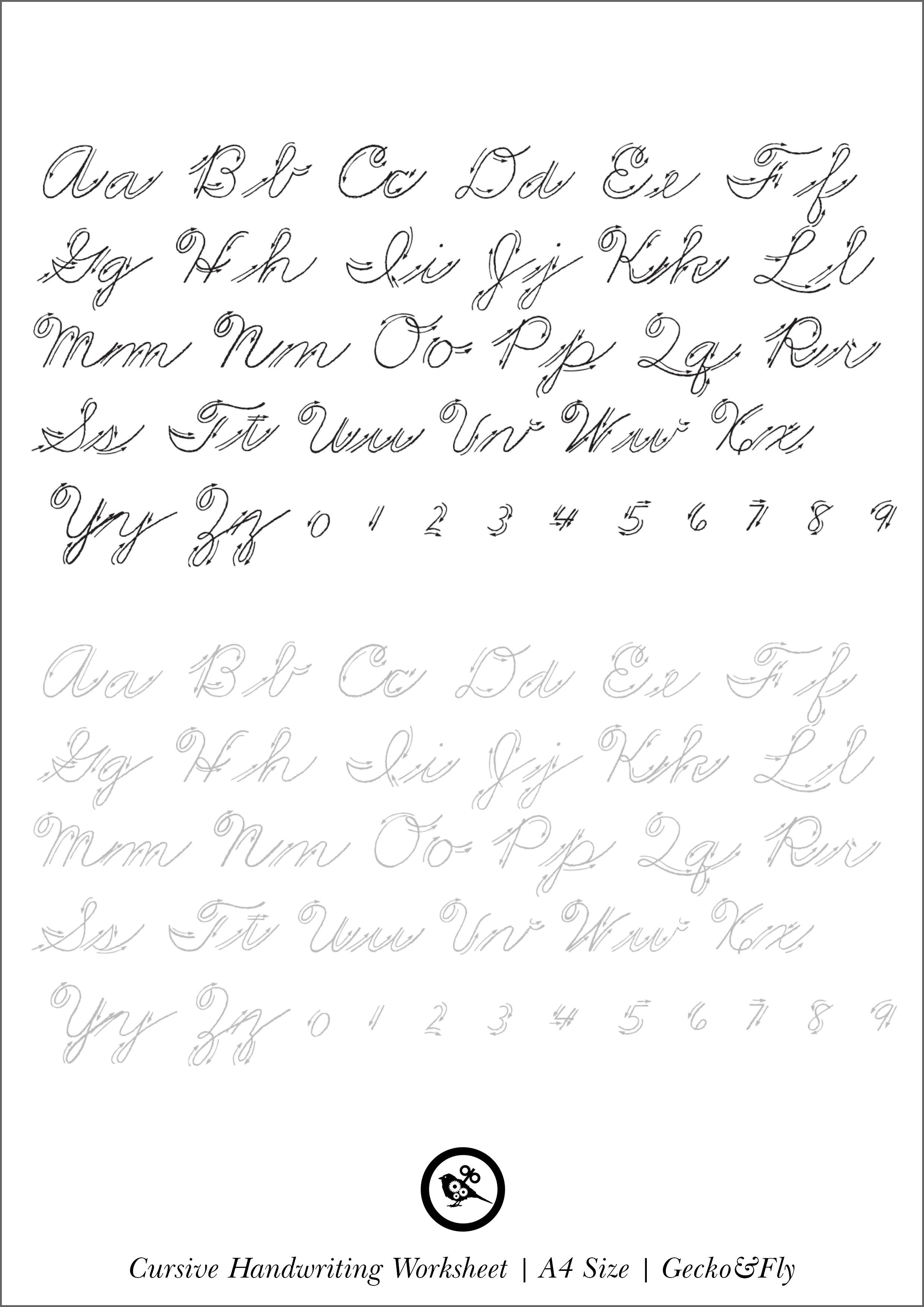 practice penmanship printables