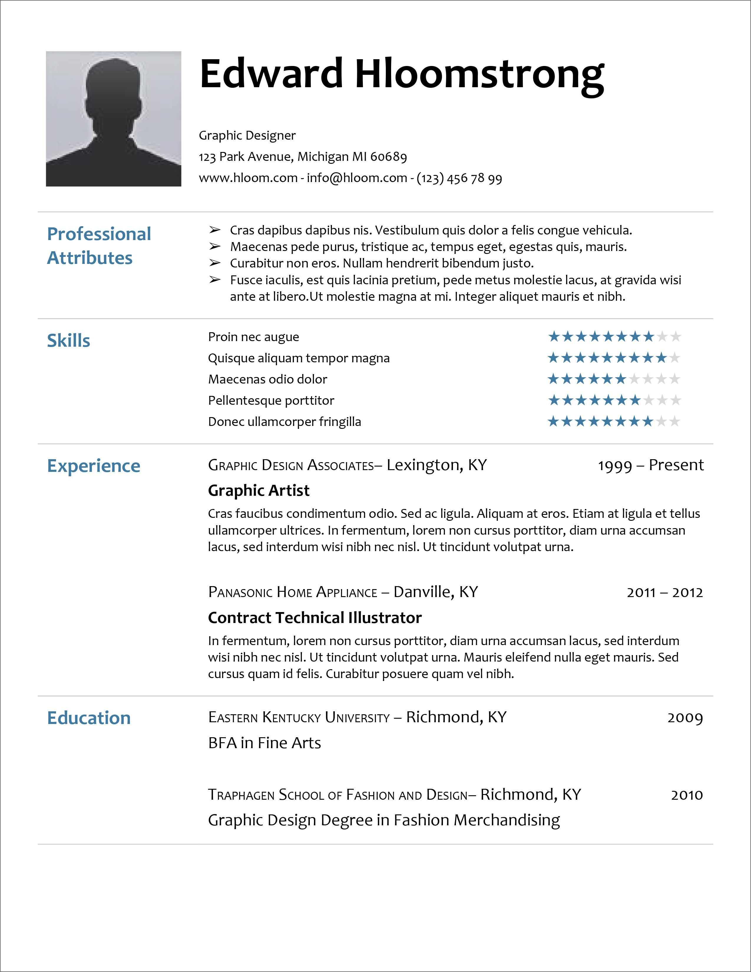free resume templates microsoft word docx
