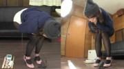 Subtitled amateur Japanese pee desperation failure in HD