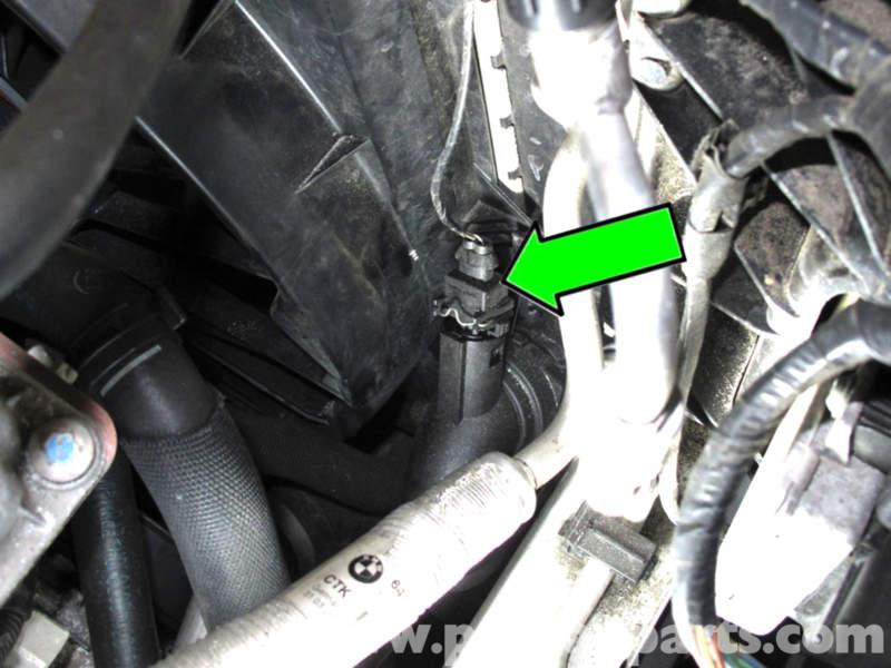 BMW E90 Radiator Outlet Temperature Sensor Replacement E91, E92