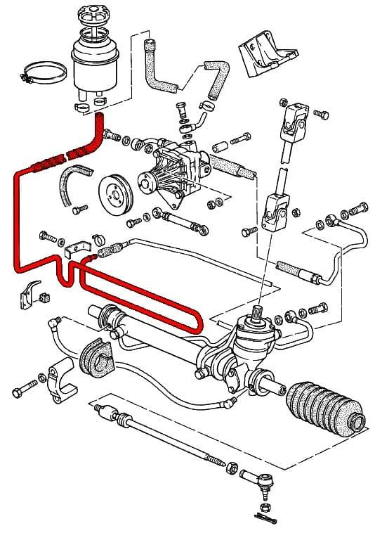steering rack schematic