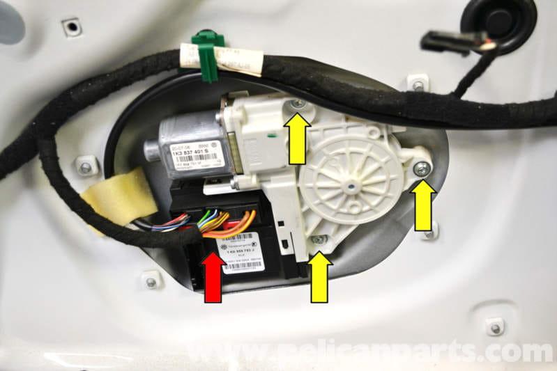 Volkswagen Golf GTI Mk V Window Regulator and Motor Replacement