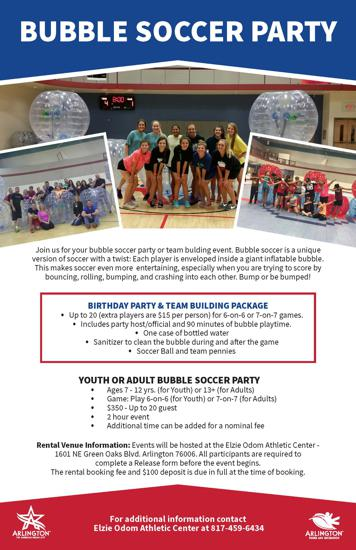 Birthday  Sports Party Service - party rental flyer