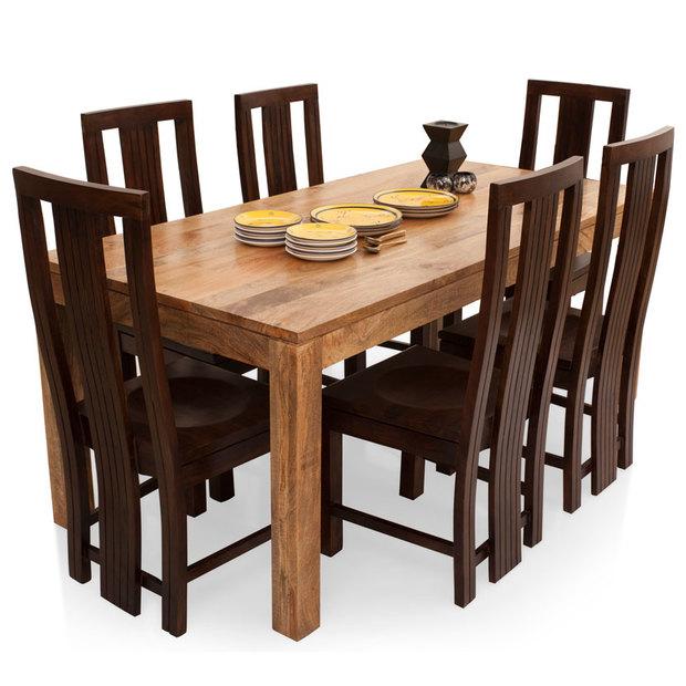 Gresham Capra 6 Seater Dining Table Set Thearmchair
