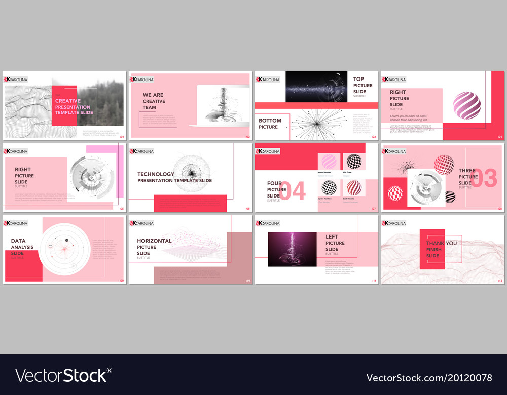 Minimal presentation templates Royalty Free Vector Image