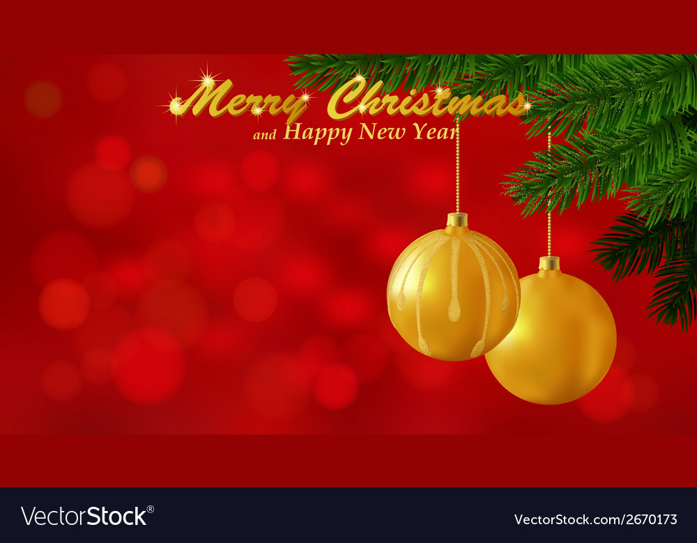 Merry Christmas red background Royalty Free Vector Image