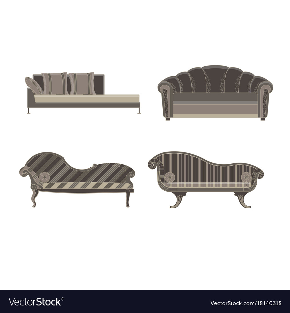 Sofa Set Images Free Download Sofa Set Furniture Room Interior Living Chair Vector Image On Vectorstock