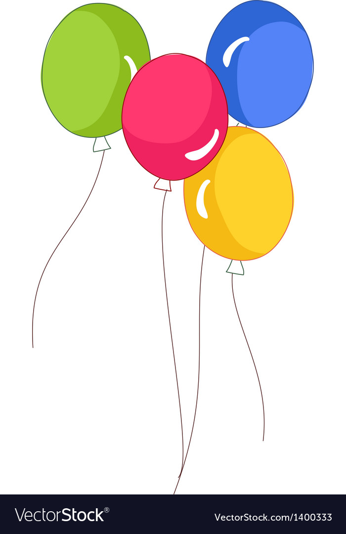 A floating balloons Royalty Free Vector Image - VectorStock