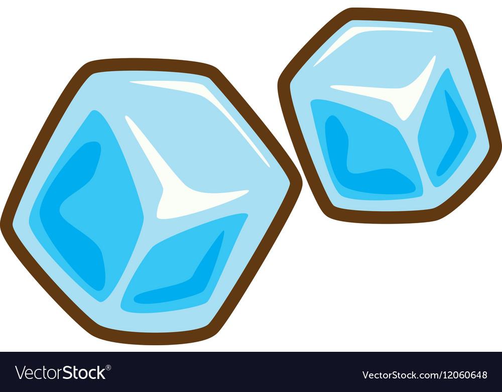 Cartoon ice cubes frozen water Royalty Free Vector Image