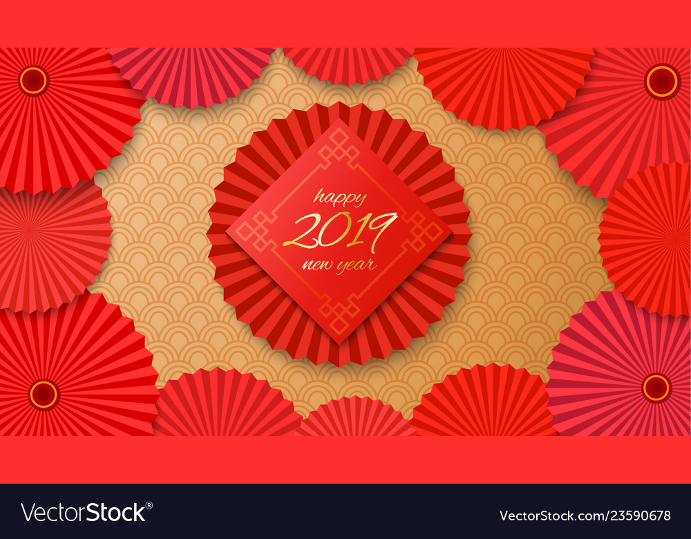 Chinese new year background Royalty Free Vector Image