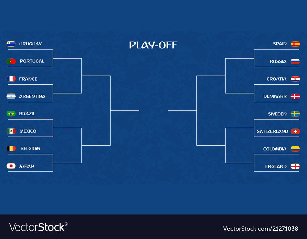 Playoff tournament bracket Royalty Free Vector Image
