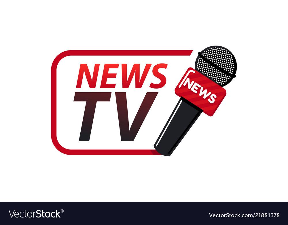 News tv logo design template Royalty Free Vector Image