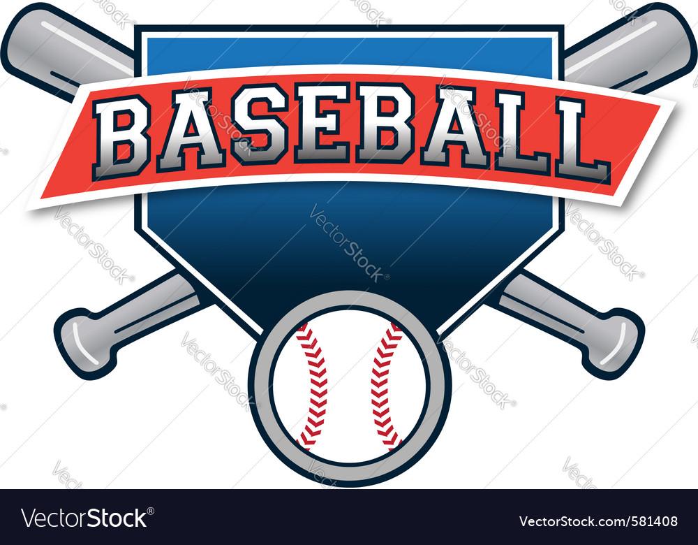 Baseball logo Royalty Free Vector Image - VectorStock