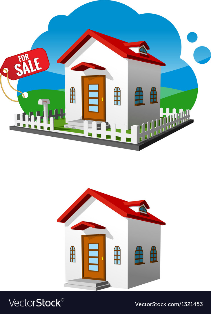 House for sale Royalty Free Vector Image - VectorStock