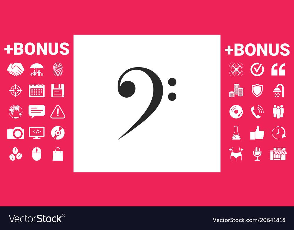 Bass clef icon Royalty Free Vector Image - VectorStock - base cleff