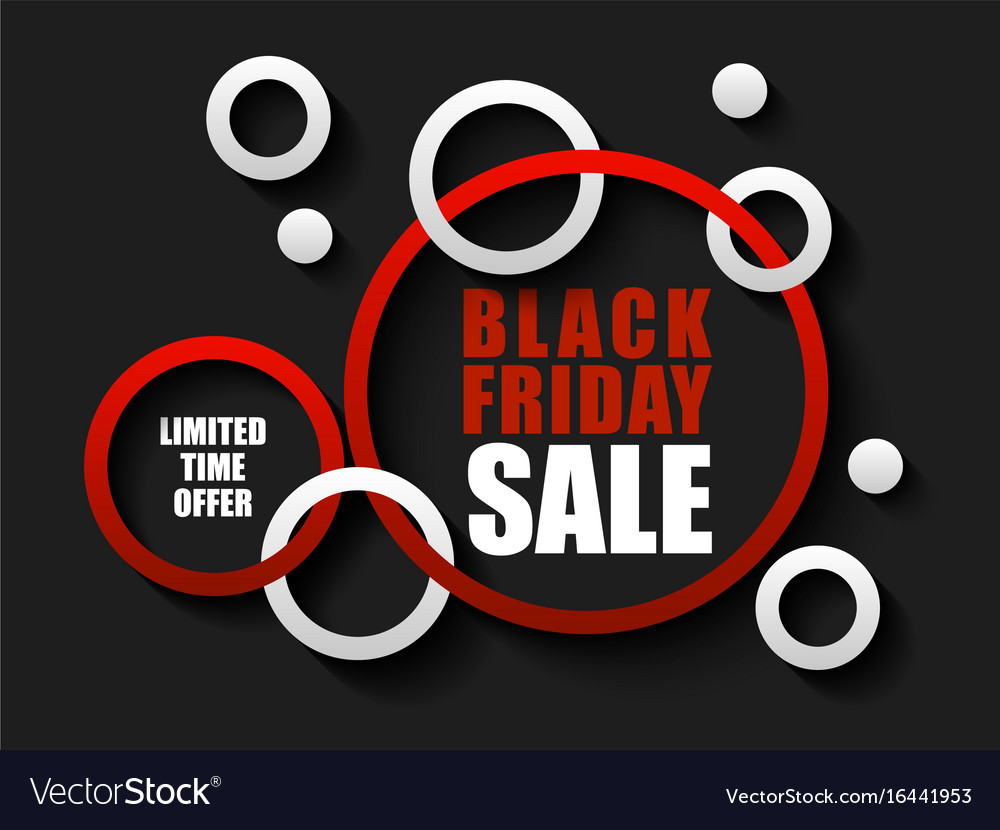Black Friday Sale Black Friday Sale Banner With Red And White Rings