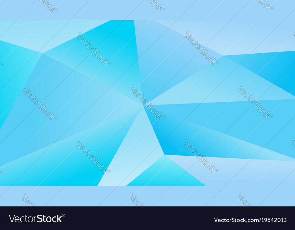 Simple blue polygonal graphic background Vector Image