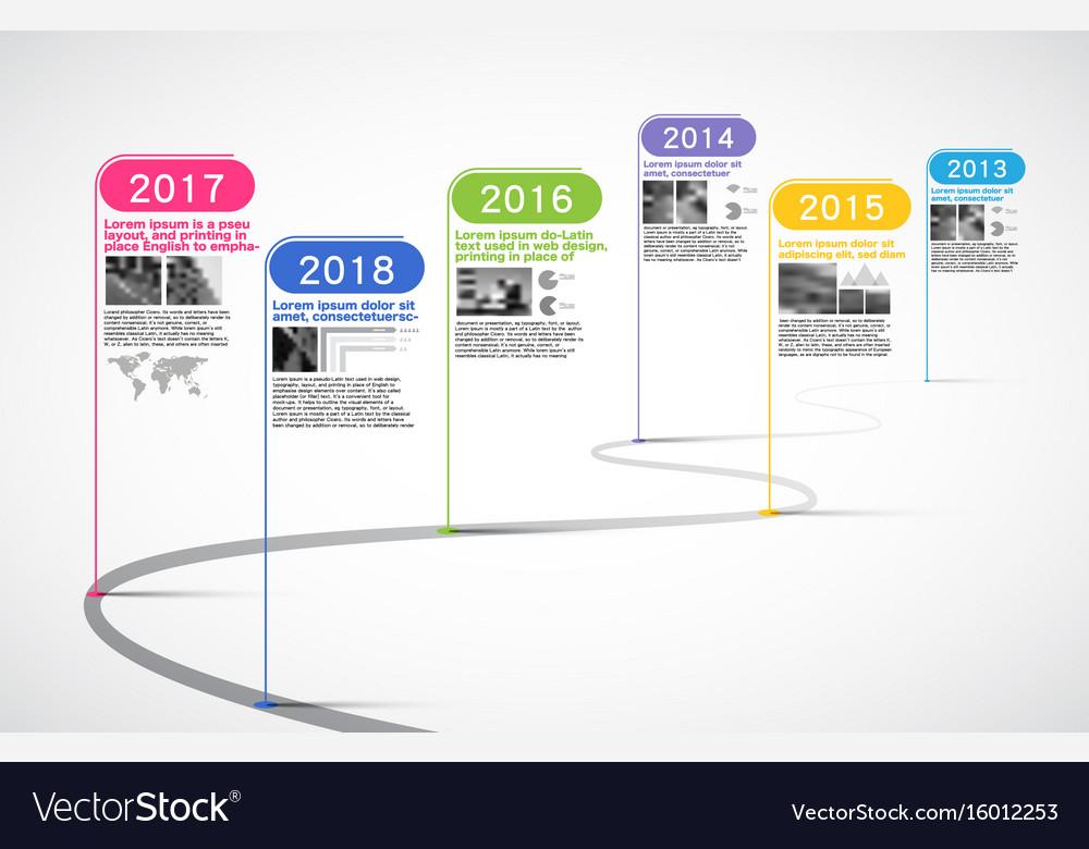 Milestones company timeline infographic Royalty Free Vector - baby milestone timeline