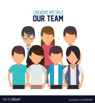 Creative people our team Royalty Free Vector Image