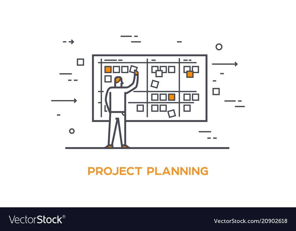 Icon business 01 project planning Royalty Free Vector Image