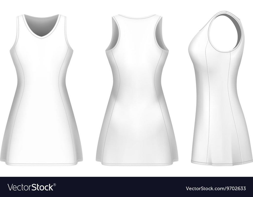 Netball dress Royalty Free Vector Image - VectorStock