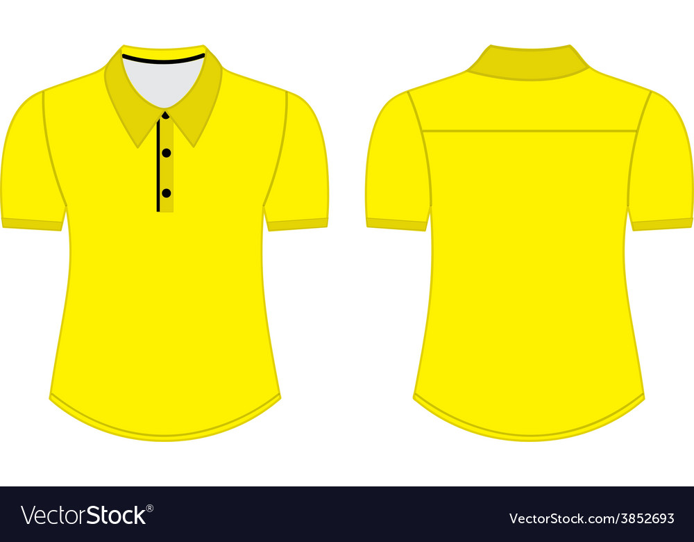 Blank shirt with shot sleeves template for men Vector Image