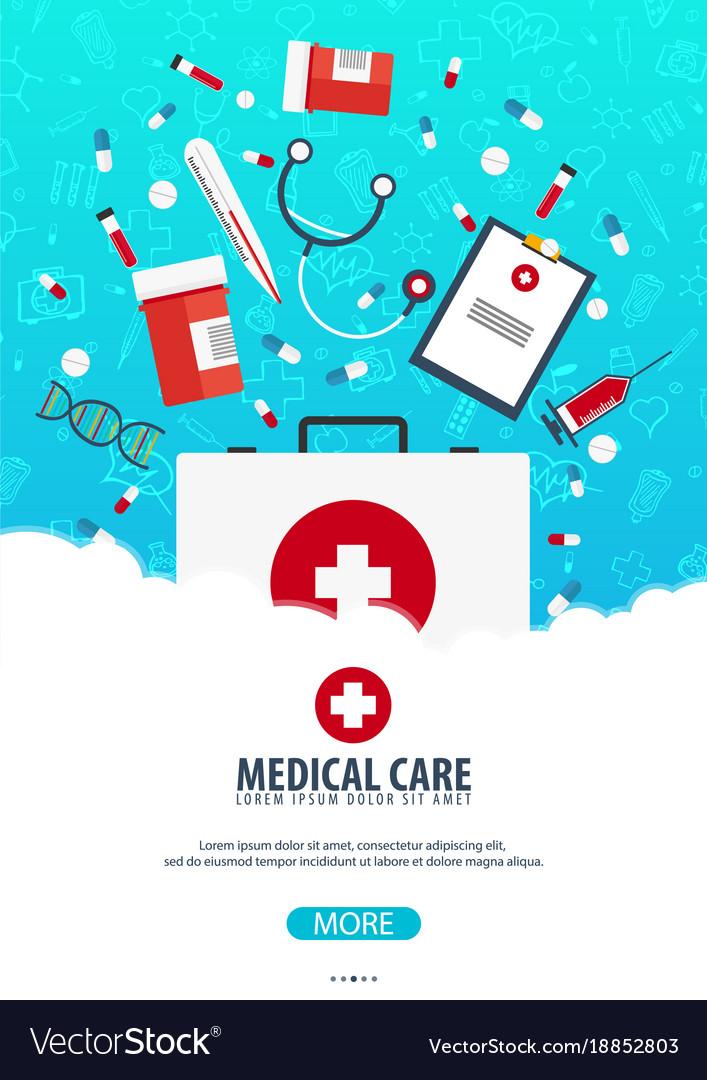 Medical poster health care medicine Royalty Free Vector