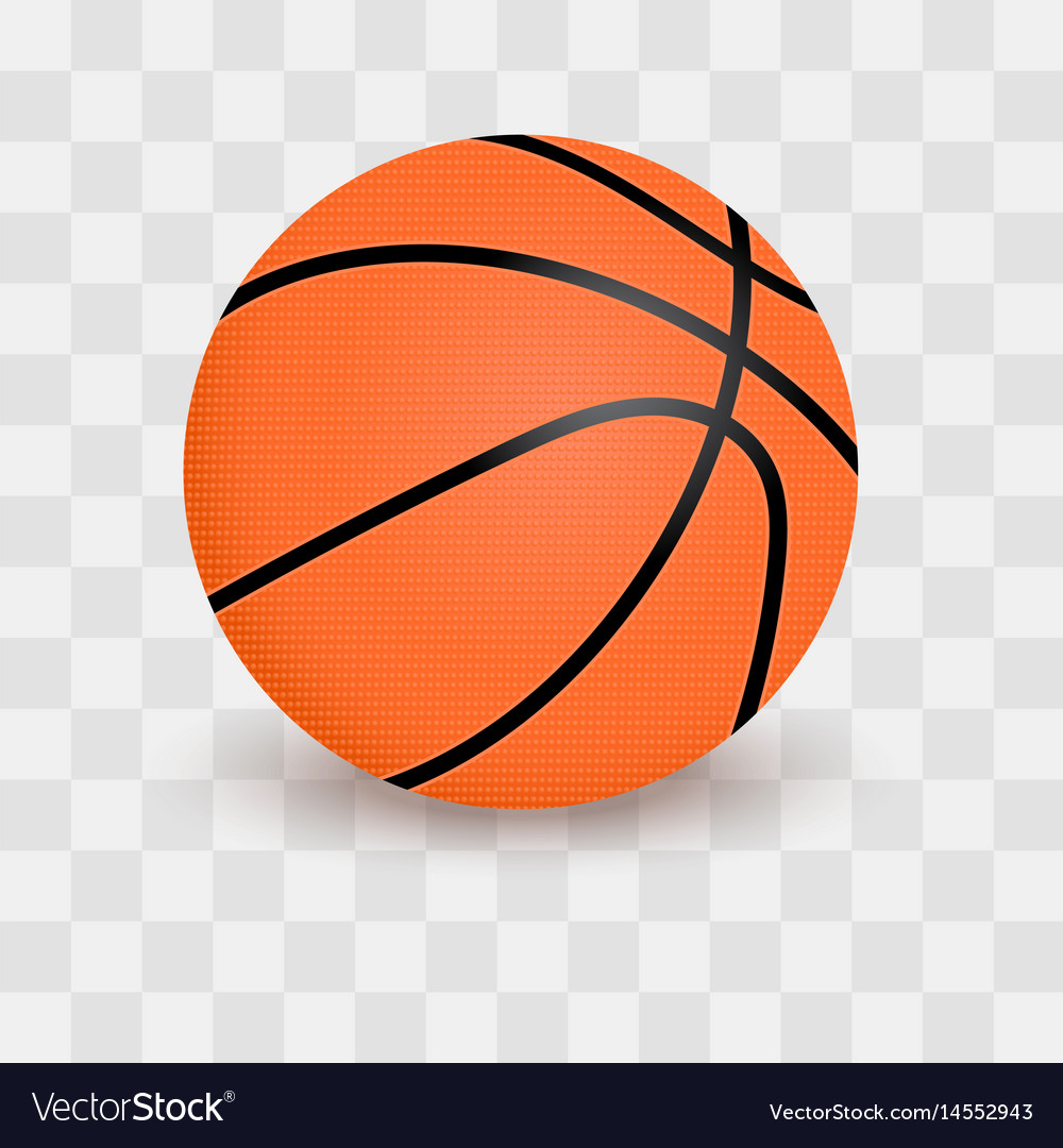 Basketball Ball Basketball Ball Isolated On Transparent Checkered
