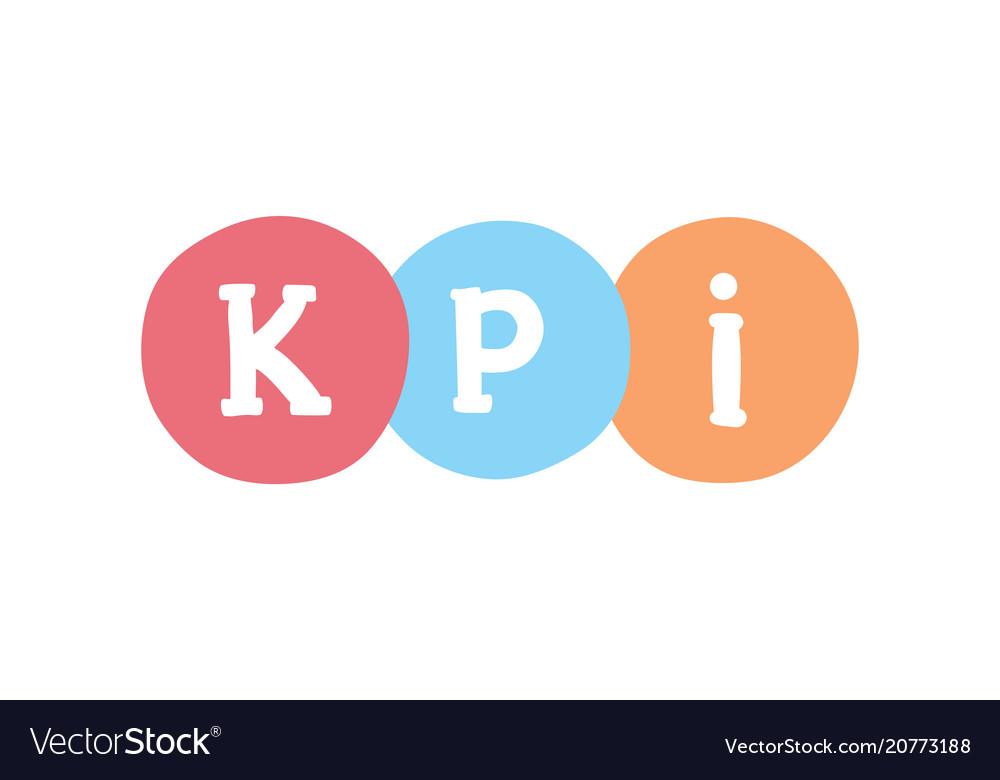 Kpi marketing concept key performance indicator Vector Image