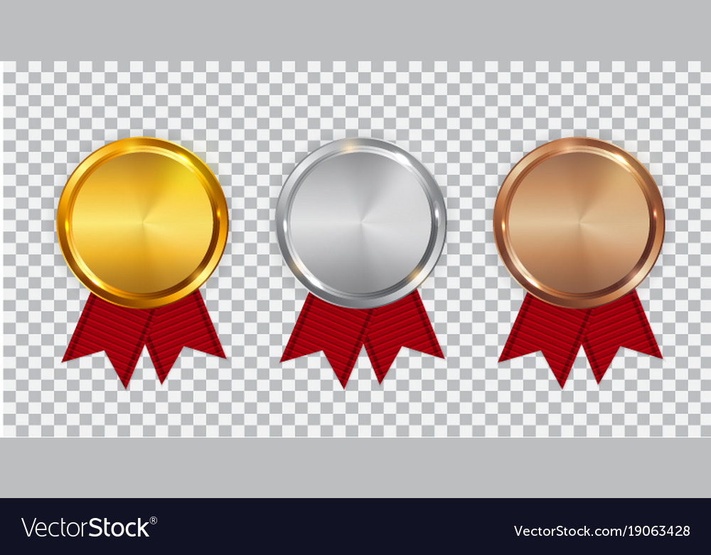Champion gold silver and bronze medal template Vector Image - gold medal templates