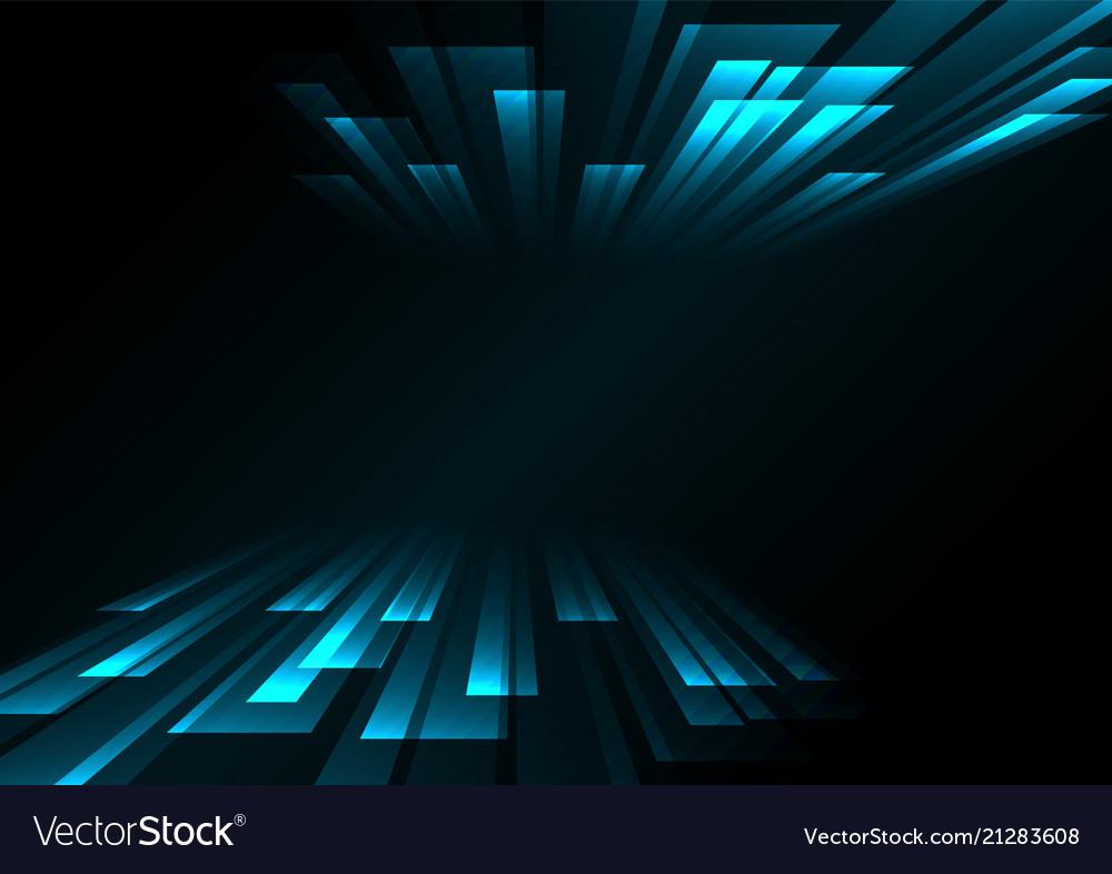 Blue overlap stripe rush in dark background Vector Image