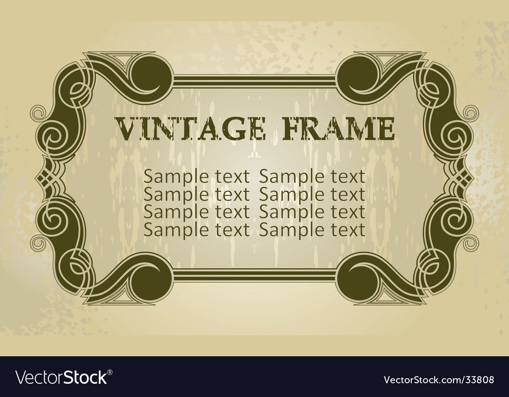 Vintage decorated boarder Royalty Free Vector Image