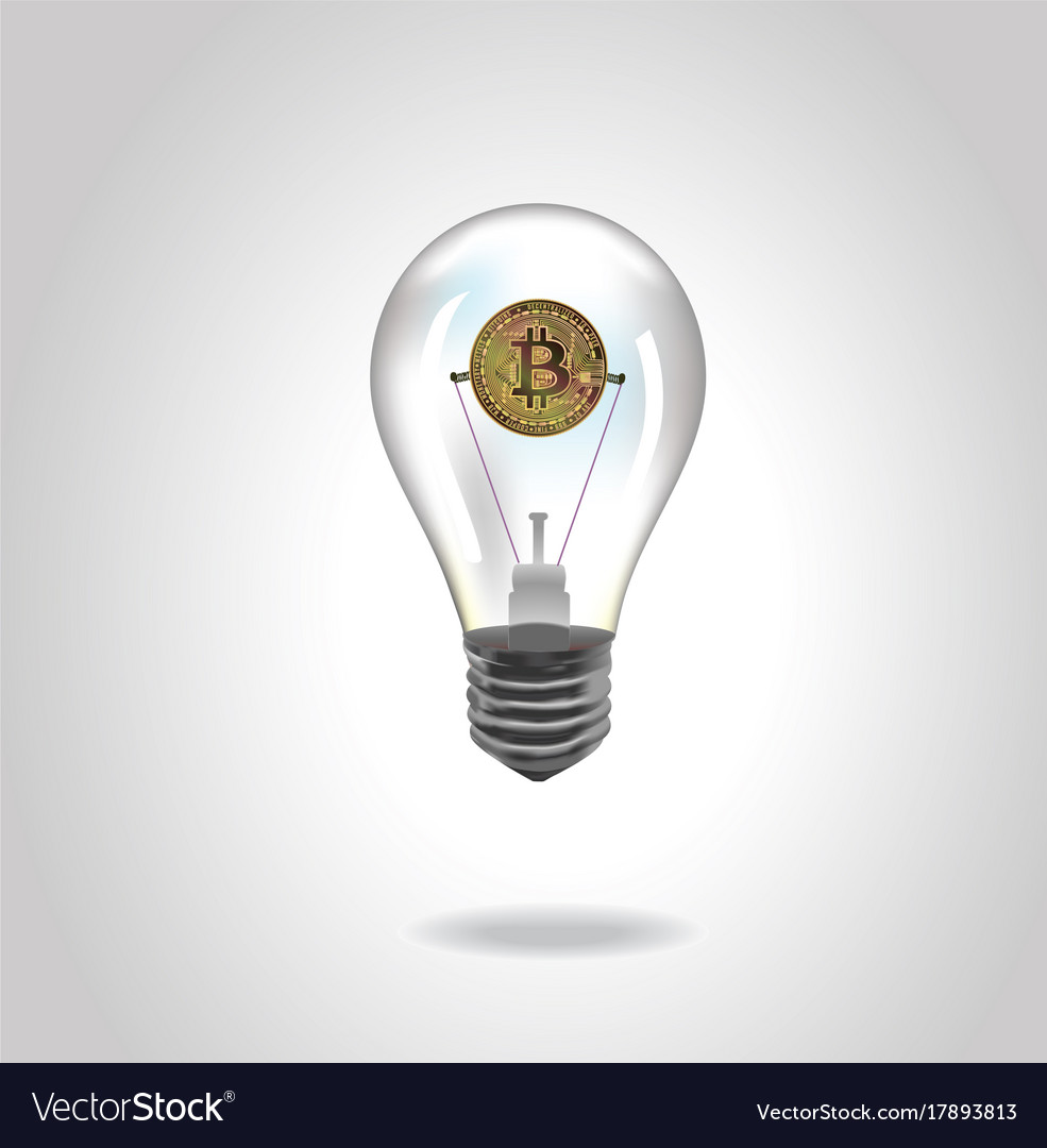 Glass Lamp Vector Crypto Currency Golden Coin In Glass Lamp Vector Image