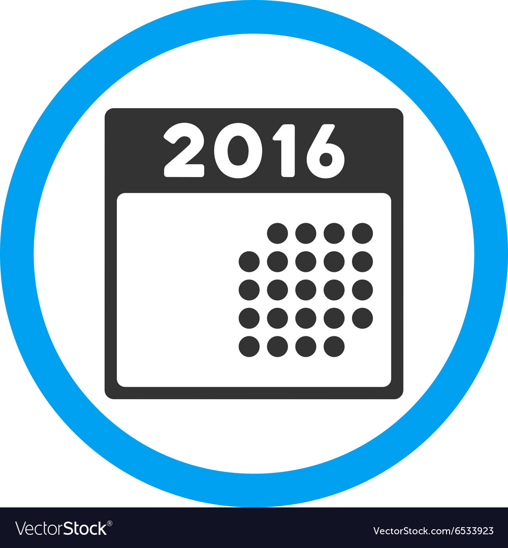 Organizer 2016 2016 Month Organizer Icon Vector Image On Vectorstock