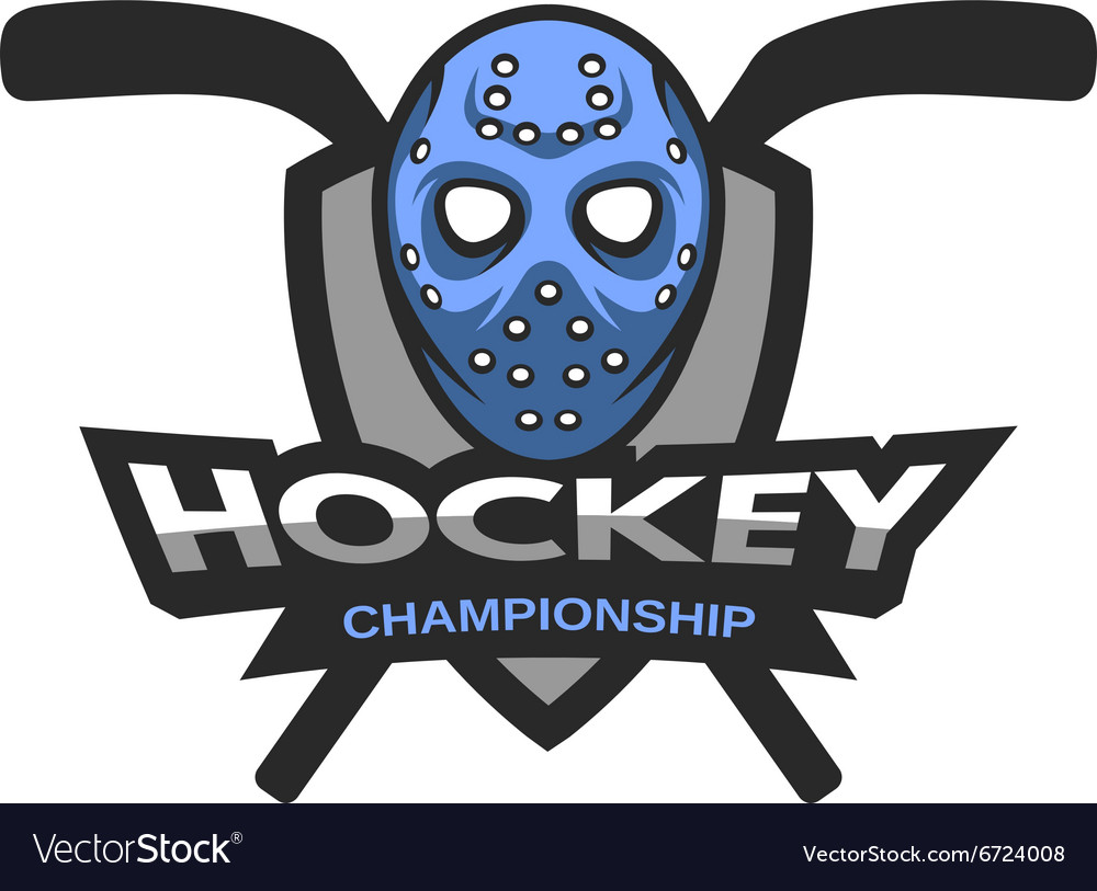 Hockey Logos Goalie Mask Hockey Logo Emblem Vector Image On Vectorstock