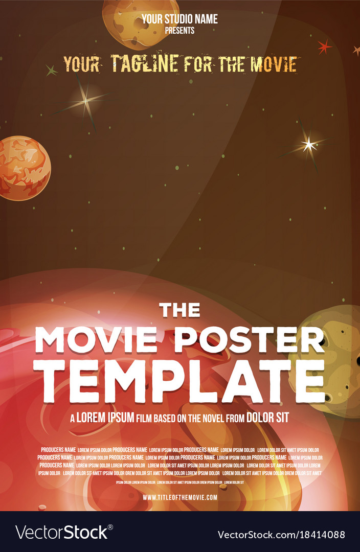 Movie poster template Royalty Free Vector Image