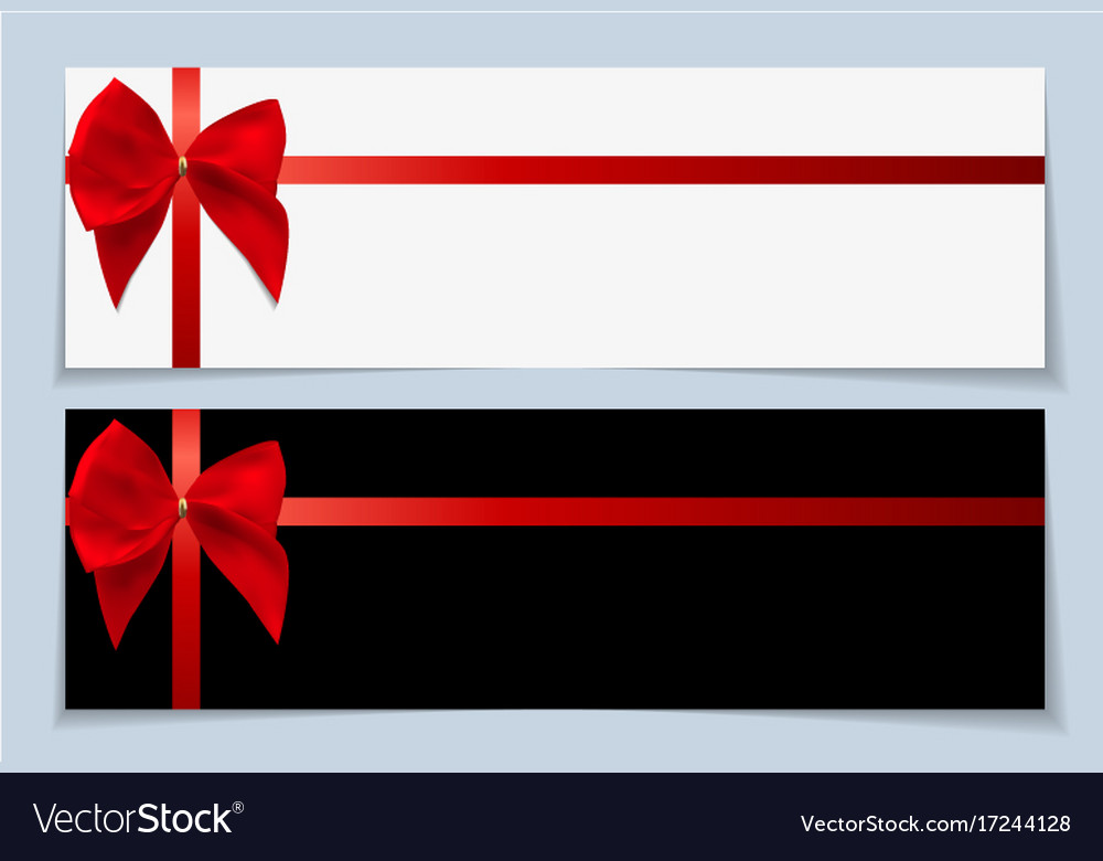 Blank gift card template with bow and ribbon Vector Image - gift card templates