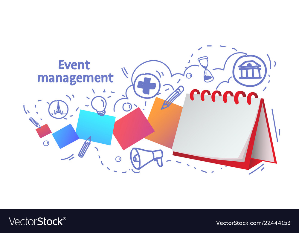 Notebook reminder icon agenda event management Vector Image