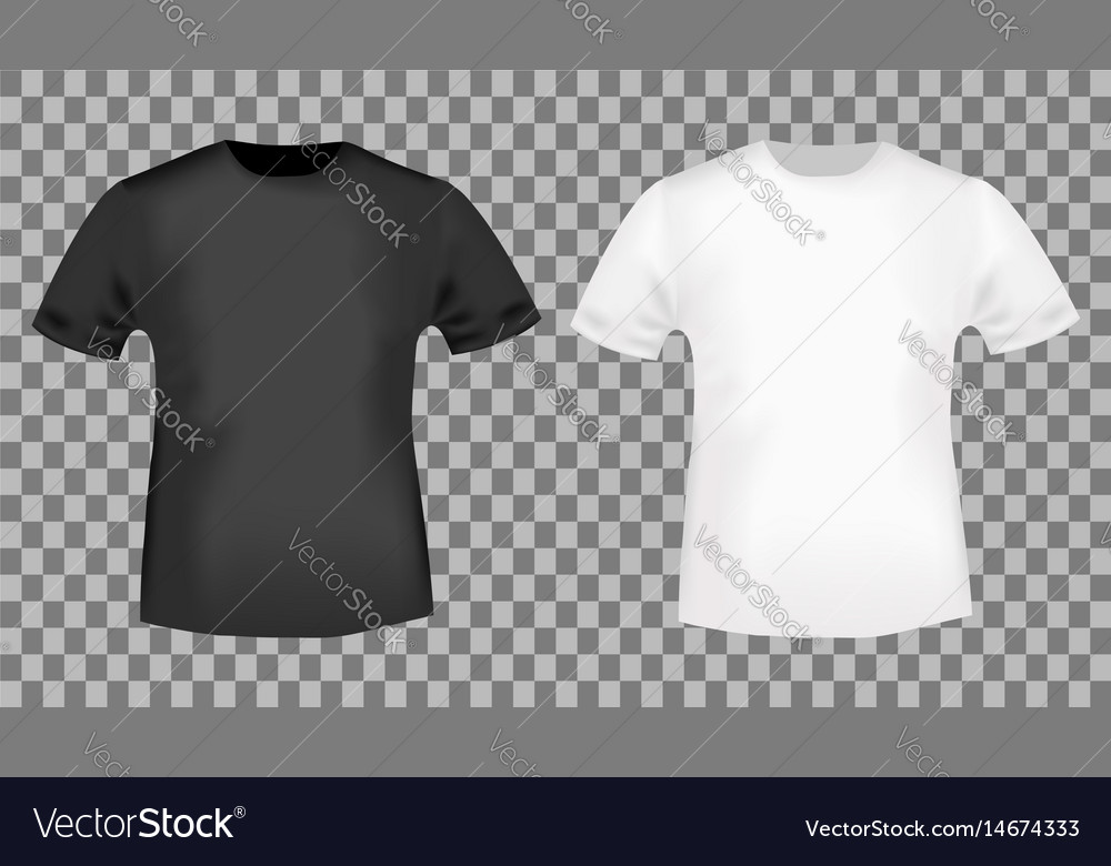 Black and white t-shirt template Royalty Free Vector Image - t shirt template