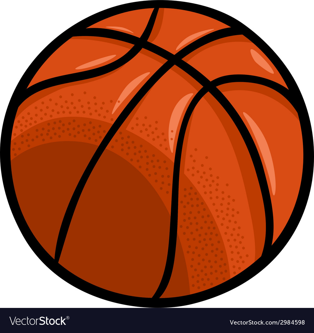 Basketball Ball Basketball Ball Cartoon Clip Art Vector Image On Vectorstock