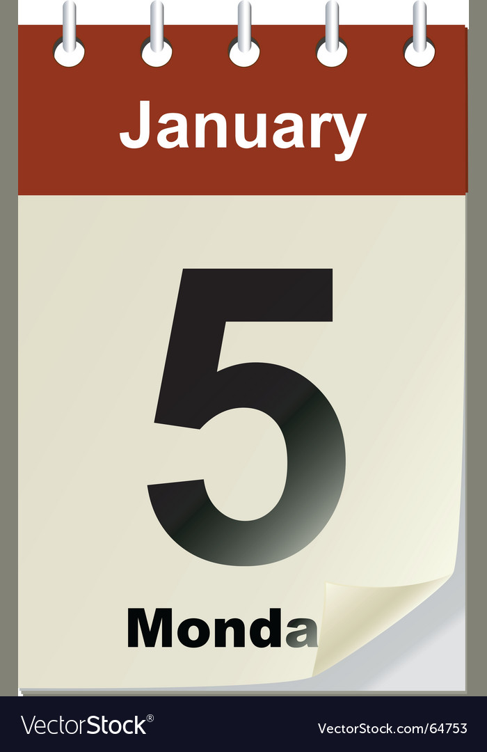 Changeable calendar Royalty Free Vector Image - VectorStock