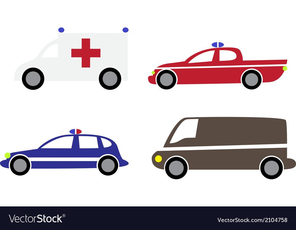 Cartoon cars 3 Royalty Free Vector Image - VectorStock