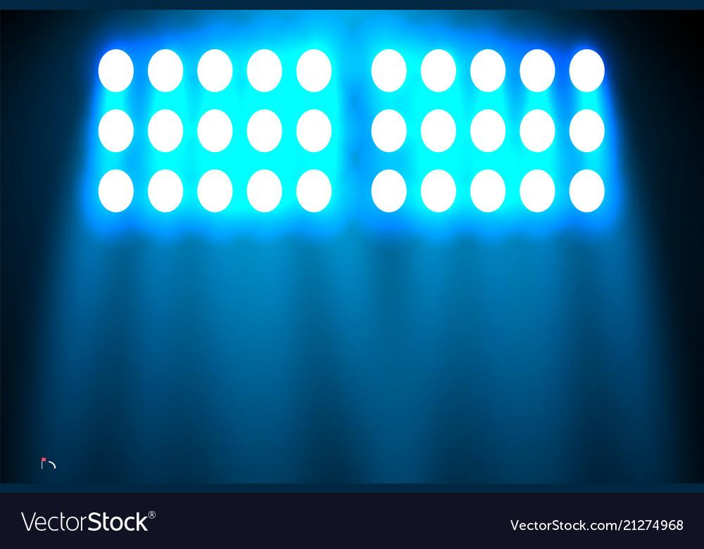 Spotlight on a black background the blue light Vector Image